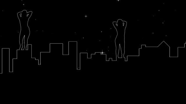 tanz auf manhattan - erotischer tanz stock-videos und b-roll-filmmaterial