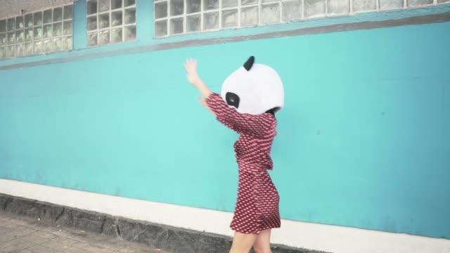 dancing panda - dressing up stock videos & royalty-free footage