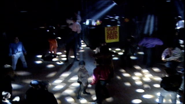 stockvideo's en b-roll-footage met dancing people at the palladium nightclub in 1992 new york city - 1992