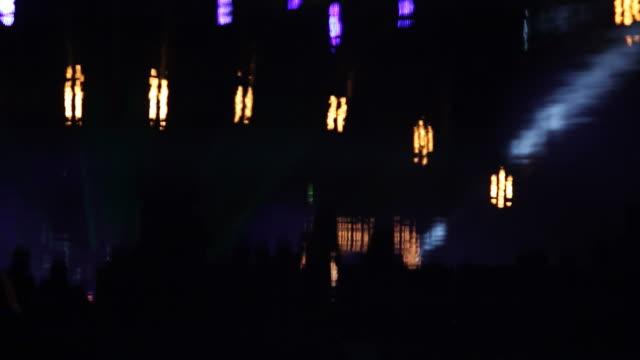Dancing people in night club