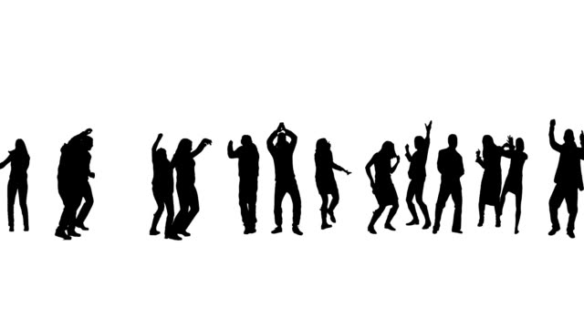 dancing people - in silhouette stock videos & royalty-free footage