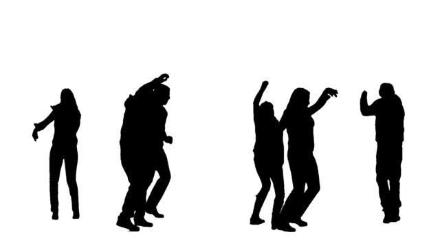 stockvideo's en b-roll-footage met dancing people - silhouet