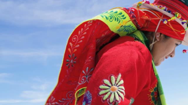 dancing performed by indigenous female salar de uyuni - cultures stock videos & royalty-free footage