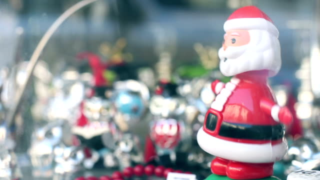 dancing santa claus, funny, humor - figurine stock videos and b-roll footage