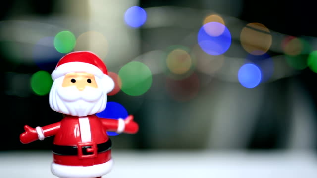 Dancing santaclause, christmas lights, funny, happy