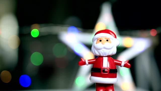 Dancing santaclause, christmas star, funny, happy