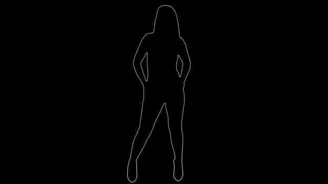 tanz-silhouette - erotischer tanz stock-videos und b-roll-filmmaterial