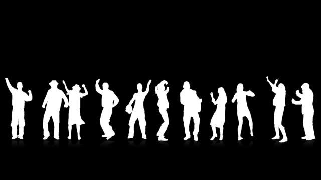 tanzen silhouetten - freisteller neutraler hintergrund stock-videos und b-roll-filmmaterial
