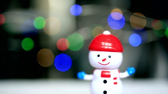 Dancing snowman, christmas star, funny, happy
