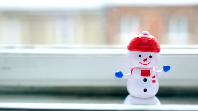 dancing snowman, funny, happy - snowman stock videos & royalty-free footage