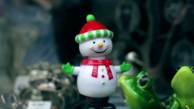 dancing snowman, funny, humor - figurine stock videos & royalty-free footage