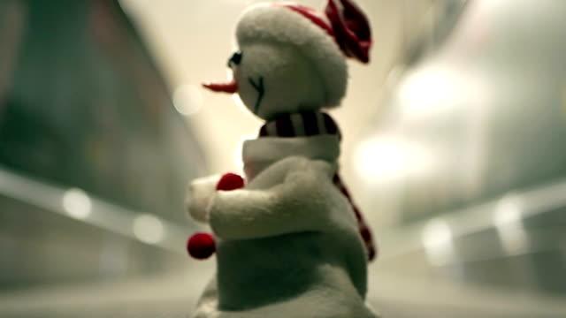 Tanzen Schneemann auf Aufzug, Weihnachten, lustig, Humor