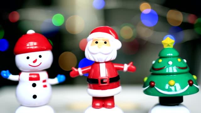 Dancing snowman, santaclause, christmas star, funny, happy
