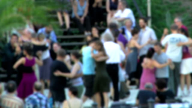 dancing tango outdoors - tango dance stock videos and b-roll footage