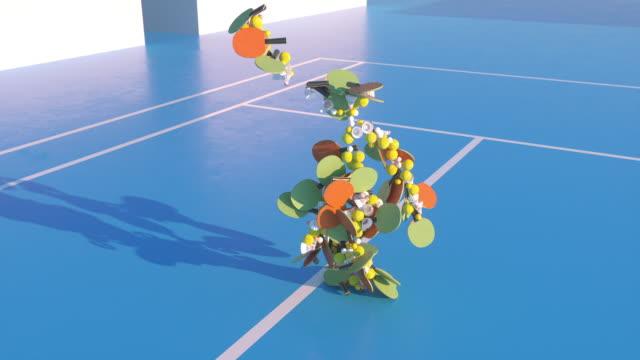 Dancing tennis.