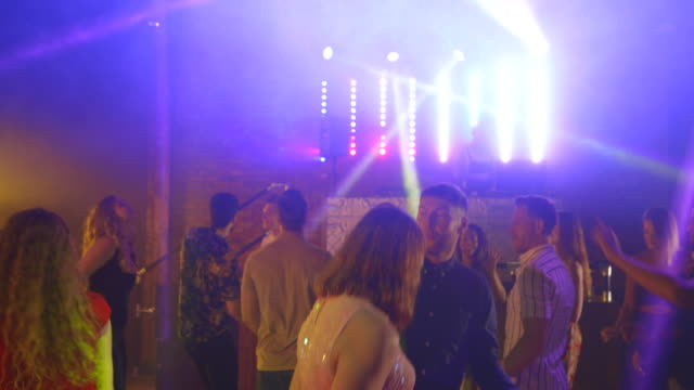 dancing the night away - disco dancing stock videos & royalty-free footage