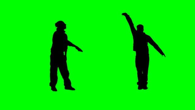 vídeos de stock, filmes e b-roll de pista de dança - fundo verde