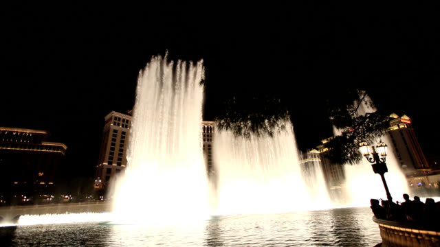 Dancing water fountain in Las Vegas in U.S.A