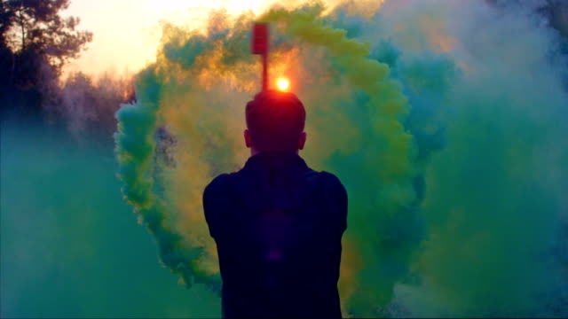 dancing with smoke - multi coloured stock videos & royalty-free footage