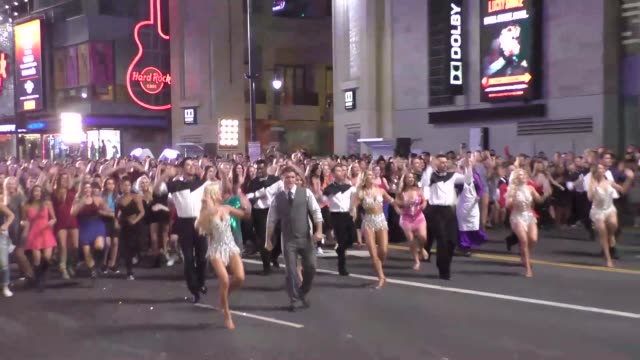 dancing with the stars cast filming dancing with the starsflash mobon hollywood blvd in hollywood on september 10 2015 in los angeles california - flash mob stock videos and b-roll footage