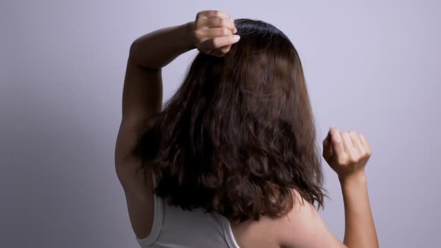 dancing woman isolated white background slow motion - hair toss stock videos & royalty-free footage