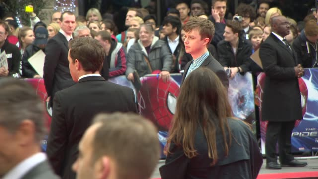 dane dehaan at the amazing spider-man 2 - uk film premiere on april 10, 2014 in london, england. - première stock videos & royalty-free footage