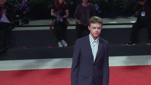 dane dehaan at 'zerozerozero' red carpet arrivals 76th venice film festival on september 05 2019 in venice italy - 76th venice film festival 2019点の映像素材/bロール