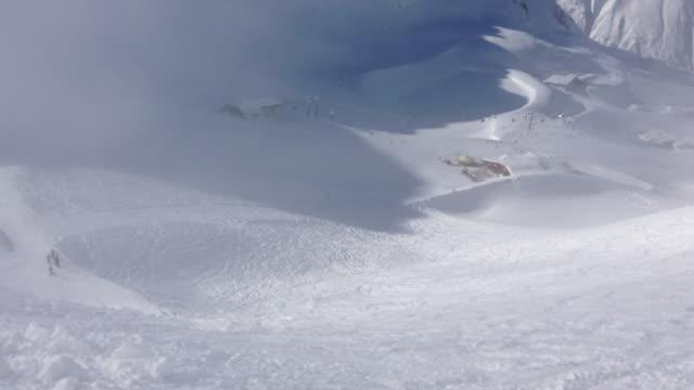 danger of avalanches, lawinenwarnung, sölden (austria) - avalanche stock videos and b-roll footage
