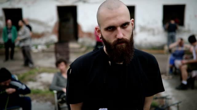 dangerous male gang member - gang stock videos & royalty-free footage