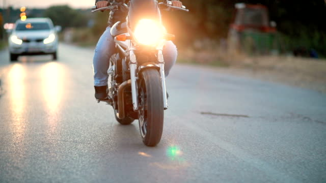 dangerous man on motorcycle - motorbike stock videos & royalty-free footage