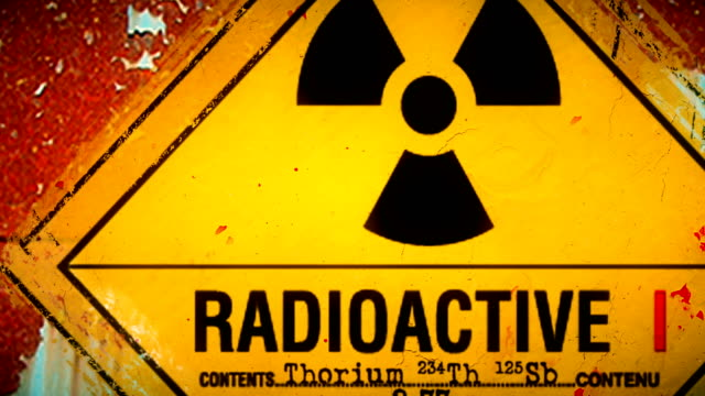 dangerous warning symbols for biohazards, radiation, infectious waste, toxic substances and corrosive elements - terrorism stock videos & royalty-free footage