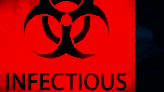 dangerous warning symbols for biohazards, radiation, infectious waste, toxic substances and corrosive elements - biohazard symbol stock videos & royalty-free footage