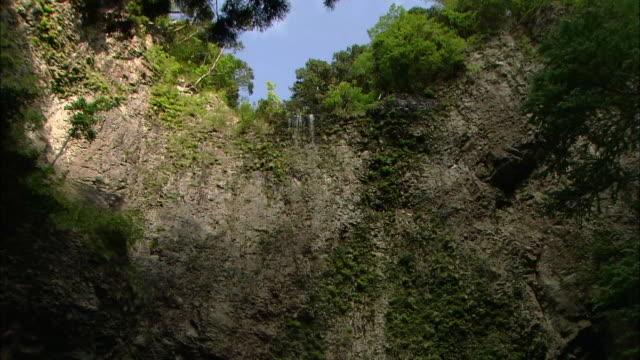 dangyo-no-taki waterfalls / oki islands - shimane prefecture stock videos & royalty-free footage