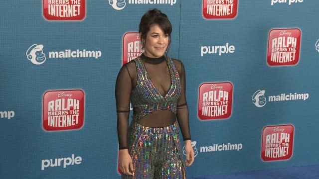 """dani fernandez at the """"ralph breaks the internet"""" world premiere at the el capitan theatre on november 05, 2018 in hollywood, california. - el capitan theatre stock videos & royalty-free footage"""