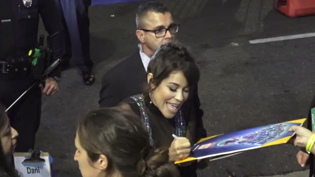 dani fernandez signs for fans outside the ralph breaks the internet premiere at el capitan theatre in hollywood in celebrity sightings in los angeles, - el capitan theatre stock videos & royalty-free footage