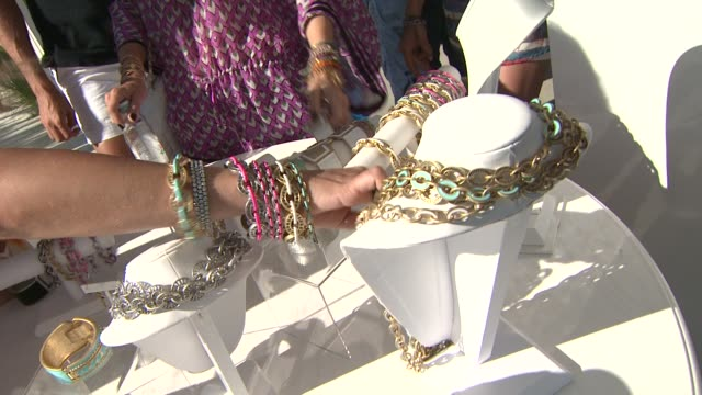 dani stahl rachel zoe at the malibu clambake honoring the lia sophia jewelry collection cape town iii at malibu ca - stahl stock videos & royalty-free footage
