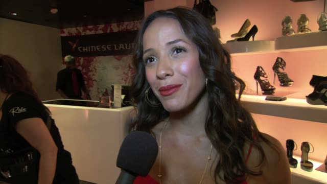 dania ramirez on the event at chinese laundry hosts the miss usa 2012 wedge run with dania ramirez interview dania ramirez on the event at chinese l... - schönheitskönigin stock-videos und b-roll-filmmaterial