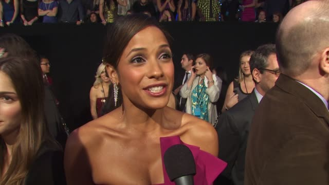 Dania Ramirez on walking the carpet at the People's Choice Awards on who she's looking forward to seeing on working with Queen Latifah and on working...