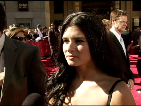 danica patrick on being at the event, on how she feels about being a role model for women she is wearing dolce and gabbana at the 2006 espy awards... - dolce & gabbana点の映像素材/bロール