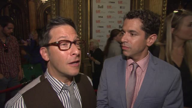interview daniel barnz and ben barnz on the story lining up such an amazing cast and how it feels to screen with tiff audience cake premiere toronto... - toronto international film festival stock videos and b-roll footage