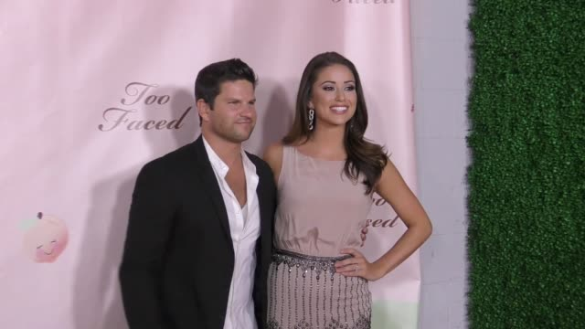 daniel booko & nia sanchez at too faced's sweet peach launch party on december 01, 2016 in hollywood, california. - nia sanchez stock videos & royalty-free footage