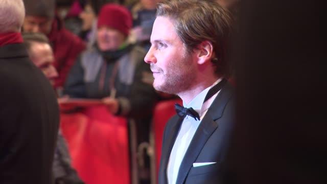 daniel bruhl at 'nobody wants the night' premiere 65th berlinale international film festival at the 'nobody wants the night' premiere and opening... - vestito nero video stock e b–roll