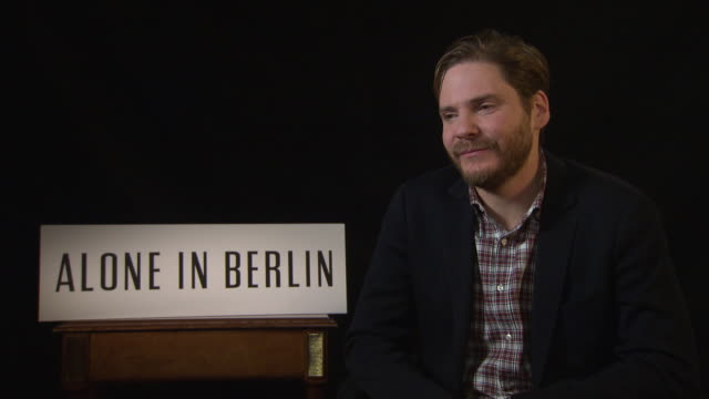 interview daniel bruhl on working with emma thompson at 'alone in berlin' interviews 66th berlin international film festival on february 16 2016 in... - emma thompson stock videos and b-roll footage