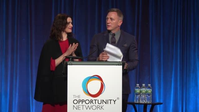 SPEECH Daniel Craig and Rachel Weisz at Daniel Craig and Rachel Weisz CoChair The Opportunity Network's 11th Annual Night of Opportunity Gala at...