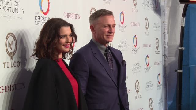 Daniel Craig and Rachel Weisz CoChair The Opportunity Network's 11th Annual Night of Opportunity Gala at Cipriani Wall Street on April 09 2018 in New...