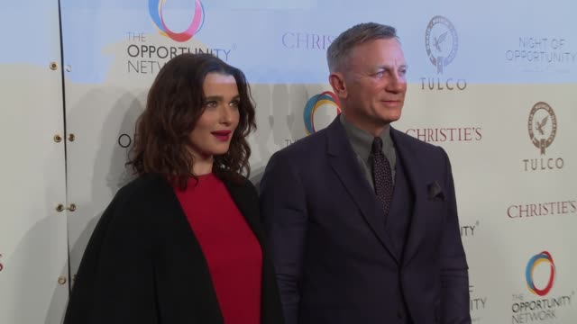 CHYRON Daniel Craig and Rachel Weisz CoChair The Opportunity Network's 11th Annual Night of Opportunity Gala at Cipriani Wall Street on April 09 2018...