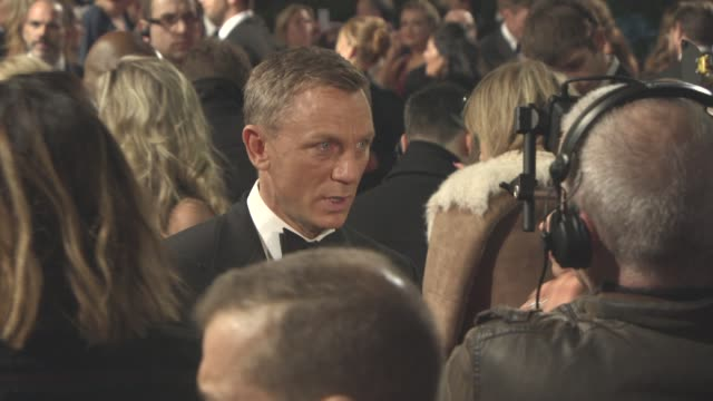 daniel craig at 'spectre' world premiere at royal albert hall on october 26 2015 in london england - daniel craig stock videos and b-roll footage
