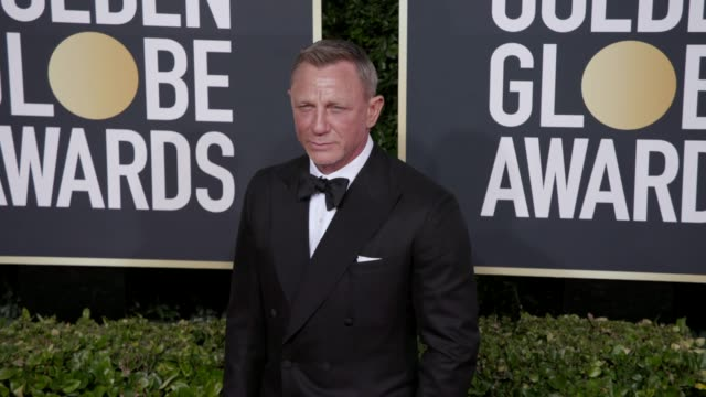 daniel craig at the 77th annual golden globe awards at the beverly hilton hotel on january 05 2020 in beverly hills california - golden globe awards stock-videos und b-roll-filmmaterial