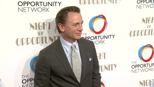 daniel craig at the opportunity networks 7th annual night of opportunity at cipriani wall street on april 07 2014 in new york city - daniel craig stock videos and b-roll footage