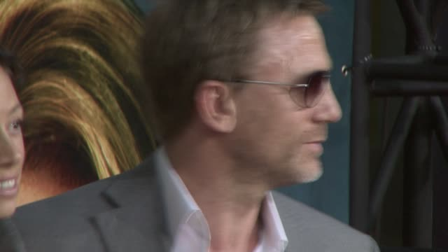 daniel craig at the 'pineapple express' premiere at los angeles ca - daniel craig stock videos and b-roll footage